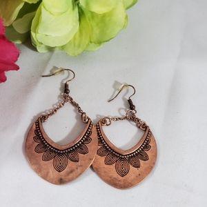Nwot copper earrings pierced dangle